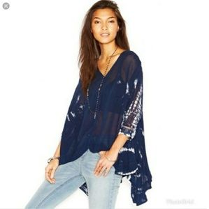 FREE PEOPLE TIE ME DOWN, OVERSIZED SHEER TUNIC-NWT